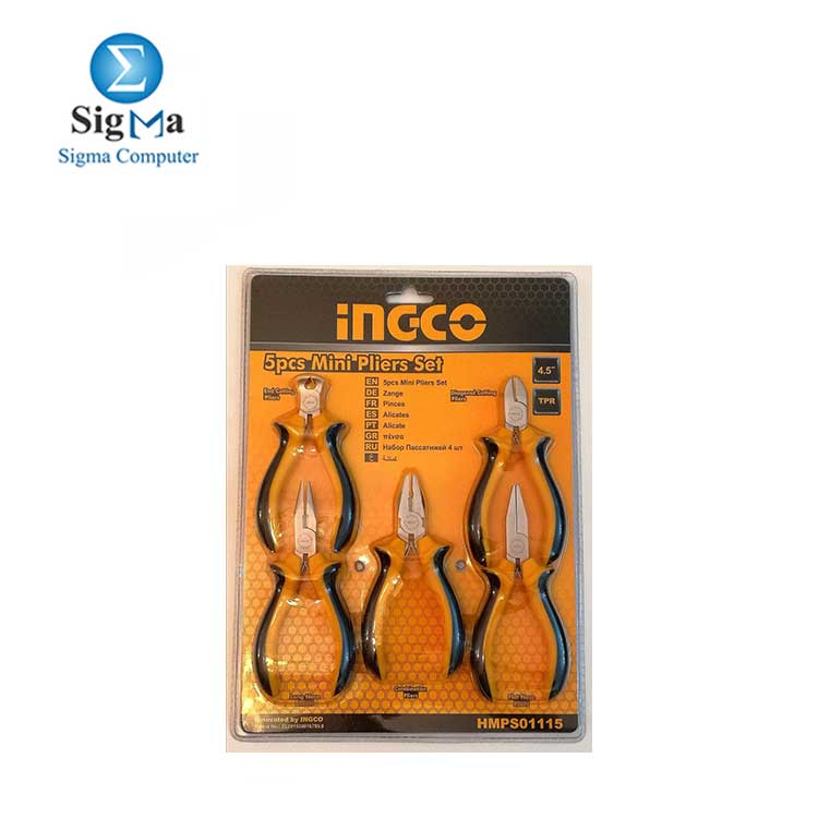 INGCO 5pcs mini pliers set 4.5 mm