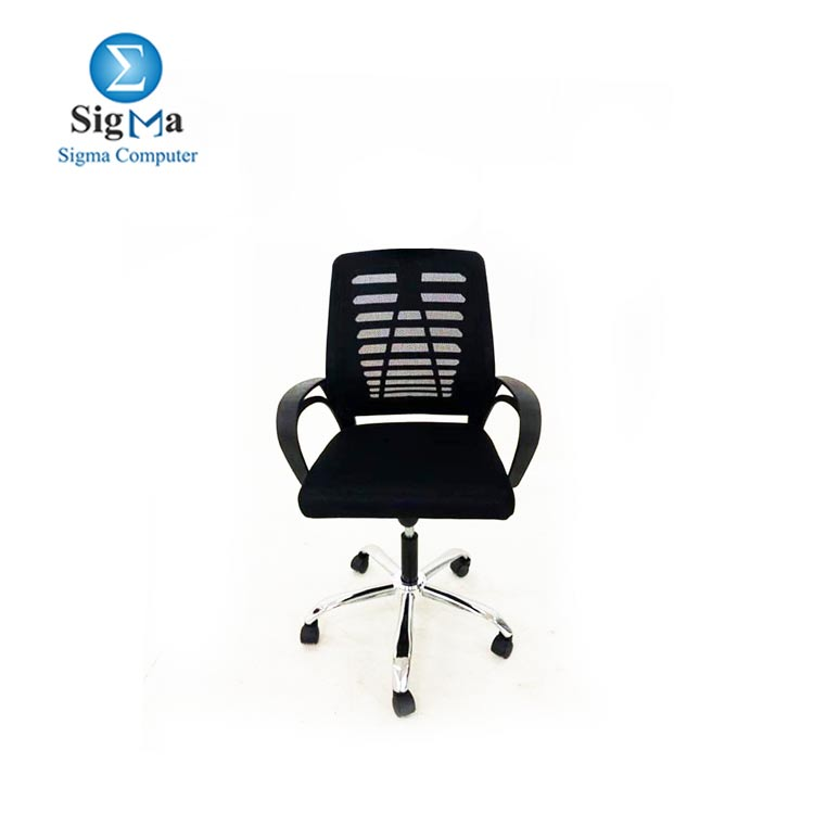 Black Office Chair adjustable in height mesh material BackRest OC-103