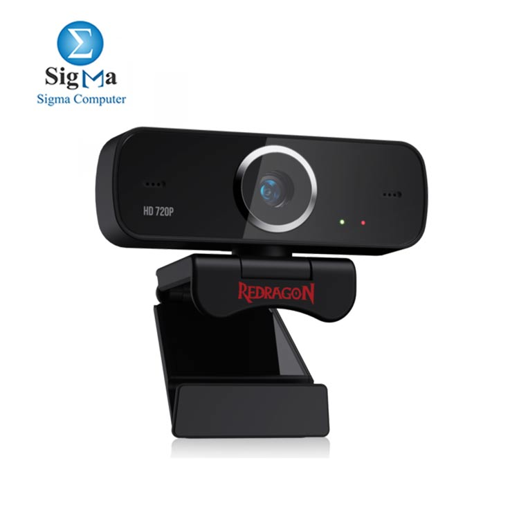 Redragon GW600 720P Webcam with Built-in Dual Microphone 360-Degree Rotation