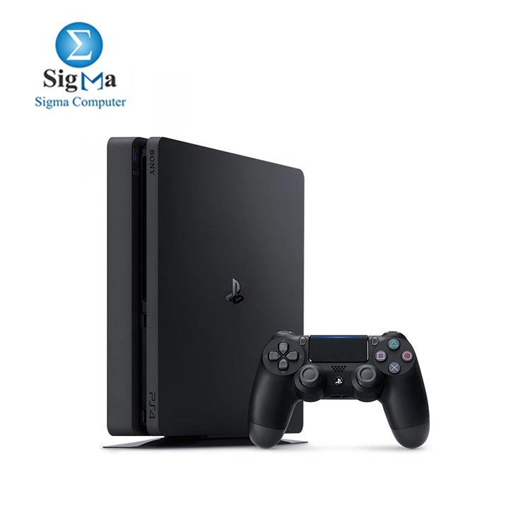 Sony PlayStation 4 Slim with 3 Games and PlayStation Plus 90 Days Subscription  500GB  Jet Black