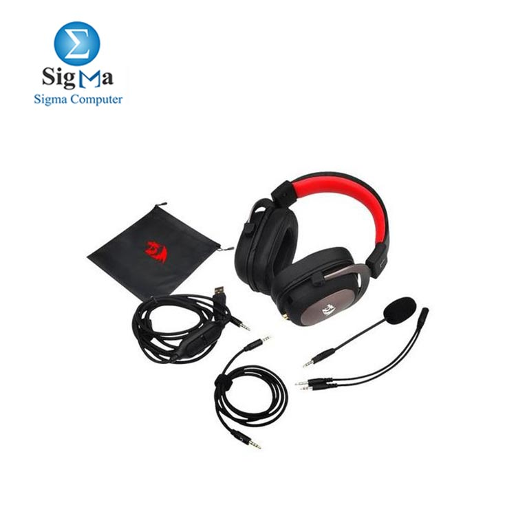 Redragon H510 Zeus2 Gaming Headset -  Surround Sound - Black Red